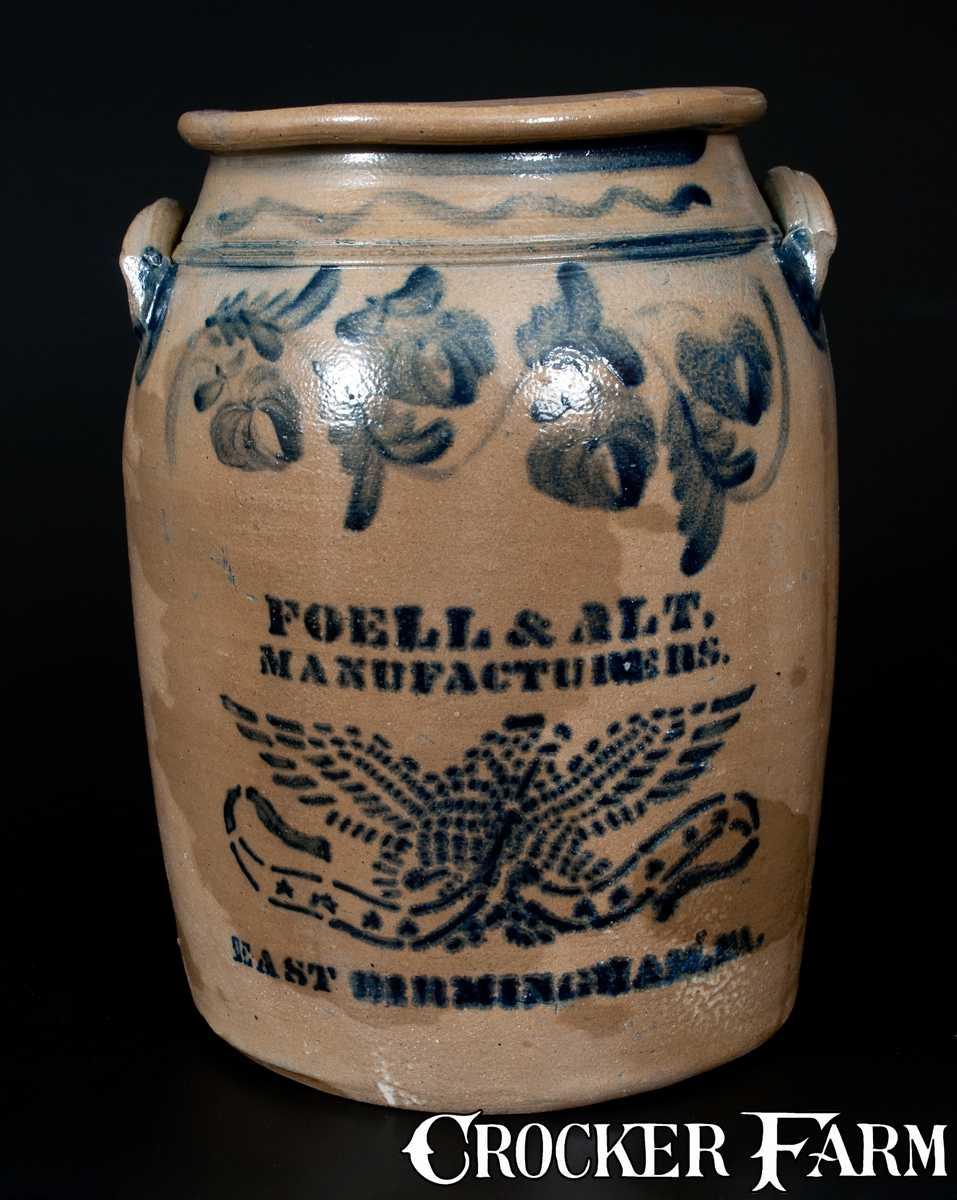 Rare Foell Amp Alt East Birmingham Pa Four Gallon Eagle