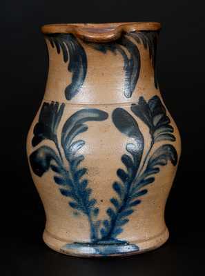 Rare Small-Sized R.C.R. / PHILA. Stoneware Pitcher
