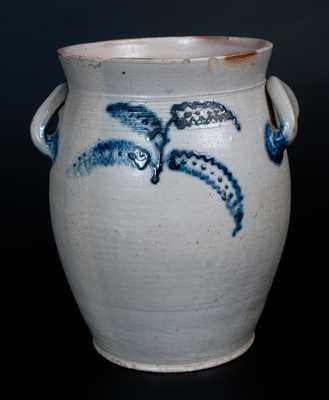 Very Rare Morgan & Amoss/ makers / Pitt Street / Baltimore / 1821 Stoneware Jar