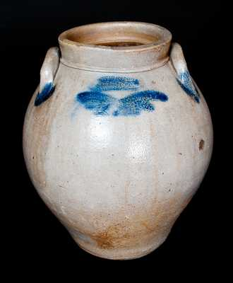 GILSON & Co. / Reading, PA Ovoid Stoneware Jar with Cobalt Decoration