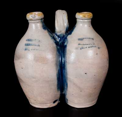 Scarce STEDMAN & SEYMOUR / NEW-HAVEN Stoneware Gemel