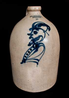 Extremely Rare S. D. KELLOGG / WHATELY Stoneware Jug with Bearded Man Decoration