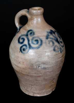 Very Rare Small Jug w/ Elaborate Watchspring Design, attrib. Capt. James Morgan, Cheesequake, NJ, c1775-90