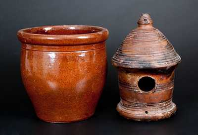 Two Pieces of Utilitarian Pottery, 19th and 20th century