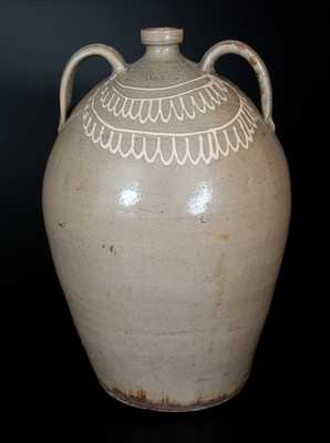 CHANDLER MAKER (Thomas Chandler, Edgefield, SC) Six-Gallon Double-Handled Stoneware Jug