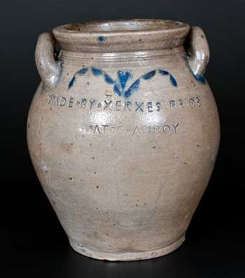 MADE BY XERXES PRICE AT S. AMBOY (South Amboy, New Jersey) Stoneware Jar