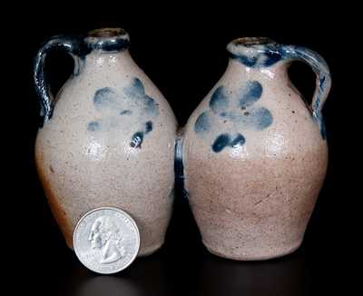 Rare Miniature Stoneware Gemel, probably New-Haven, Connecticut