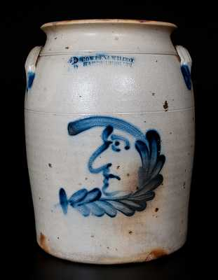 COWDEN & WILCOX / HARRISBURG, PA Man-in-the-Moon Stoneware Jar