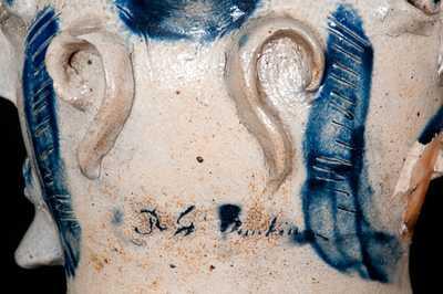 Exceedingly Rare & Important Remmey, Philadelphia Stoneware Face Jug