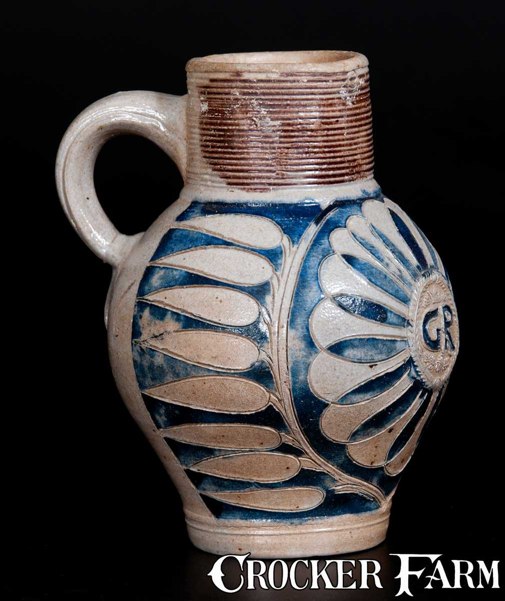 Westerwald Stoneware Quot Gr Quot Mug With Incised Decoration