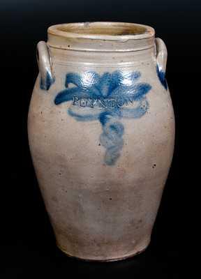 Scarce BOYNTON Stoneware Jar, Albany, NY, c1820