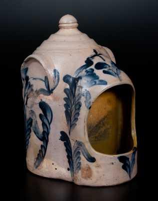 Very Rare Large-Sized Stoneware Chick Waterer, Remmey, Philadelphia, circa 1875