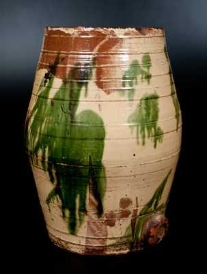 Monumental J. EBERLY & CO. / STRASBURG, VA Multi-Glazed Redware Water Cooler