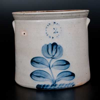 N. CLARK JR. / ATHENS, NY Stoneware Jar with Floral Decoration