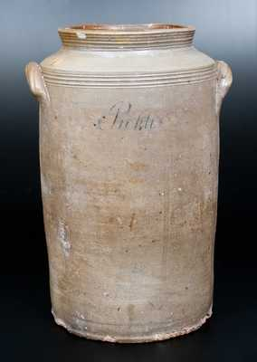 Very Rare Stoneware Handled Jar Incised
