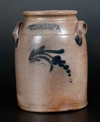 COWDEN & WILCOX / HARRISBURG, PA Decorated Stoneware Jar