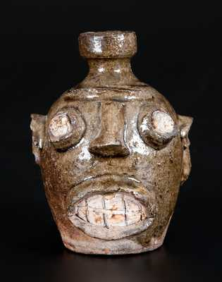 Edgefield, South Carolina, Stoneware Pottery Face Jug, circa 1860