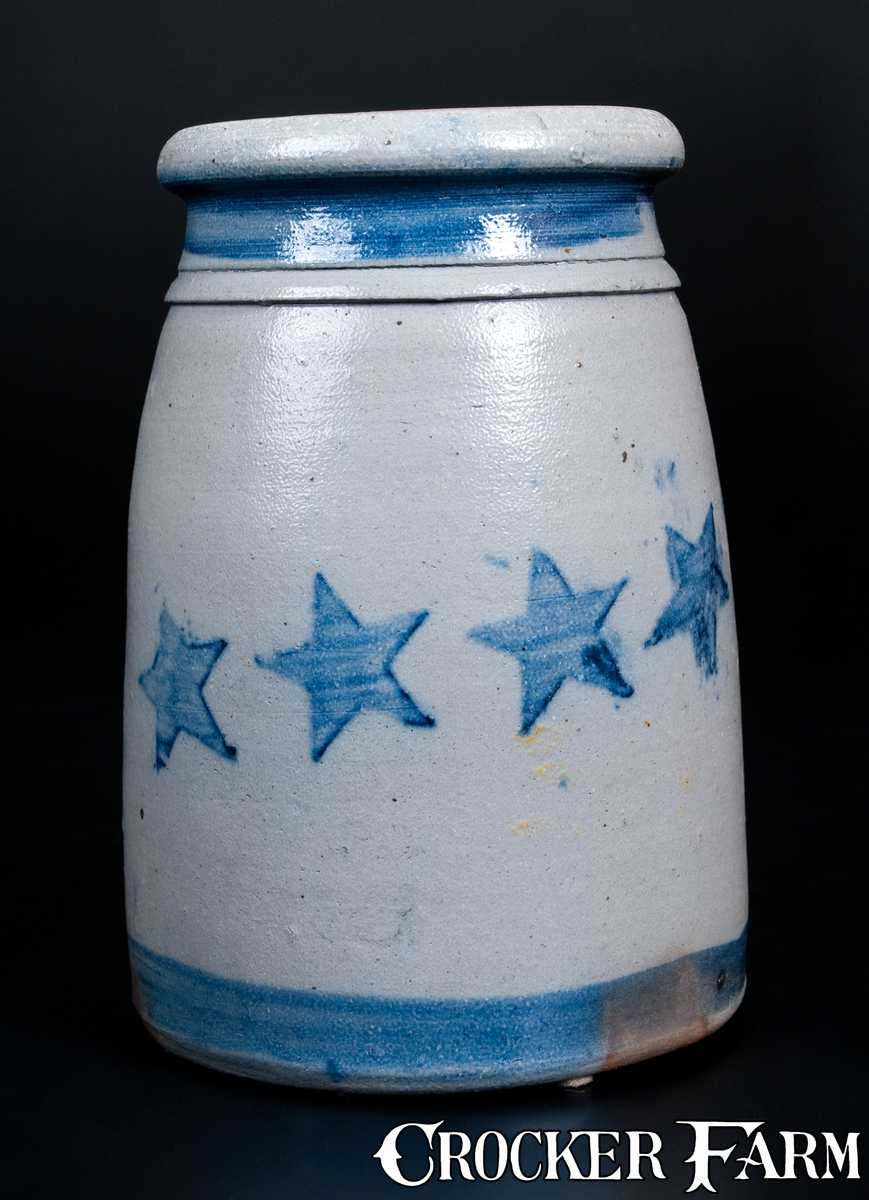Fine western pa stoneware wax sealer with stars and for Decoration wax