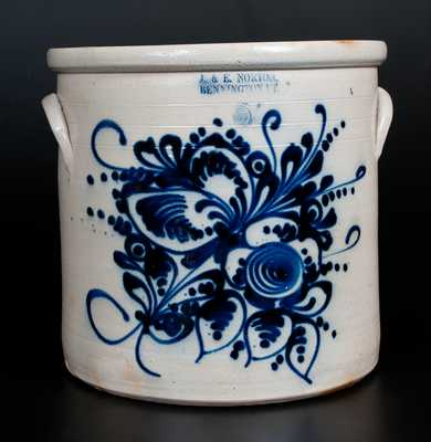 Fine Five-Gallon J. & E. NORTON / BENNINGTON, VT Stoneware Crock