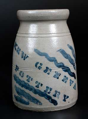 NEW GENEVA POTTERY Stoneware Wax Sealer with Stripes Decoration