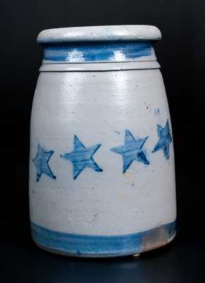 Fine Western PA Stoneware Wax Sealer with Stars and Stripes Decoration