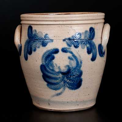 Rare T. H. WILLSON & CO. / HARRISBURG, PA Stoneware Jar with Floral Decoration