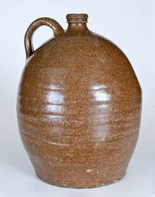 Alkaline-Glazed Stoneware Jug attrib. Edgefield, SC circa 1850