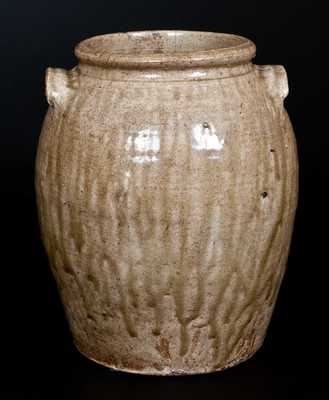 Stoneware Alkaline-Glazed Stoneware Jar att. Edgefield District, SC, circa 1840