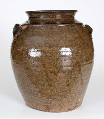 3 Gal. Edgefield, South Carolina Alkaline-Glazed Stoneware Jar
