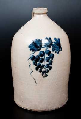 A. K. BALLARD / BURLINGTON, VT Stoneware Jug with Grapes Decoration
