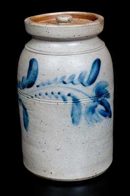 Att. D. P. Shenfelder, Reading, PA Stoneware Lidded Jar