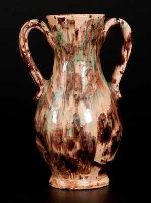 BAECHER / WINCHESTER, VA, Anthony Bacher, Winchester, VA, Redware Vase