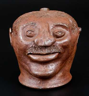 Exceptional Stoneware Face Jug, probably Barrow County, GA, circa 1880