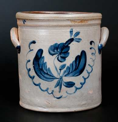 Stoneware Jar with Floral Decoration att. Taunton, MA, circa 1835-45