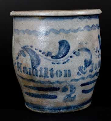 Hamilton & Jones, Greensboro, PA Stoneware Jar, circa 1870