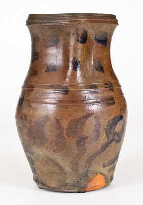 Unusual Half-Gallon Stoneware Pitcher, WV or OH origin, third quarter 19th century