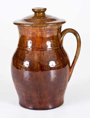 Fine Lidded JOHN BELL (Waynesboro, PA) Redware Ale Mug