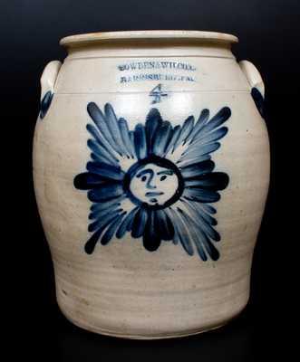 COWDEN & WILCOX / HARRISBURG, PA Stoneware Starface Jar
