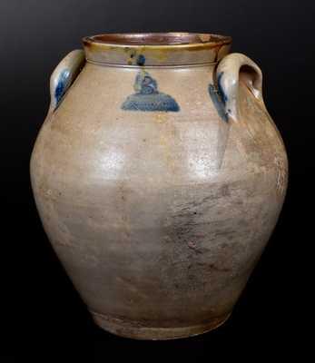 Ovoid Stoneware Jar Marked J. BENNAGE 1837 (Portage County, Ohio)