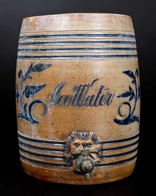 Stoneware Ice Water Cooler w/ Incised Decoration att. Wingender Pottery, Haddonfield, NJ, late 19th century