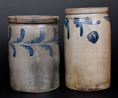 Lot of Two: Stoneware Jars incl. Strasburg, VA and Baltimore, MD Examples