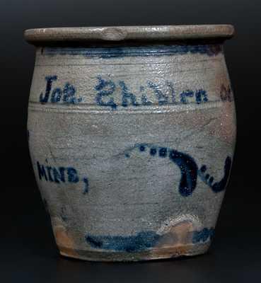 Attrib. A. Conrad, Greensboro, PA Stoneware Jar Inscribed