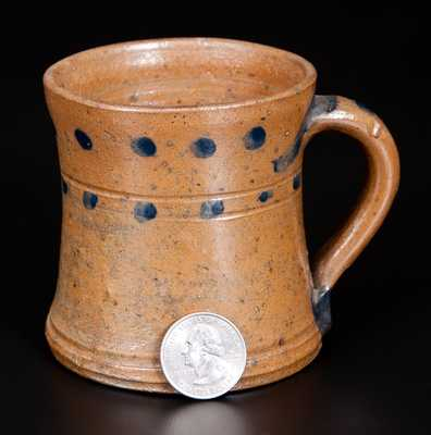 Very Rare Small Stoneware Mug att. C. F. Decker (Chucky Valley, TN)