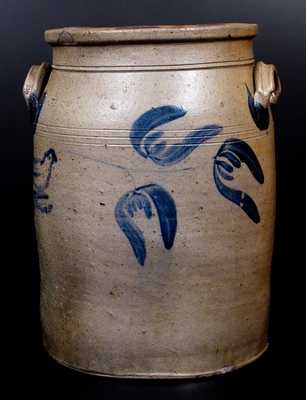 Somerfield, Somerset County, PA Stoneware Jar w/ Bird Design, attrib. George and Albert Black