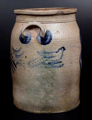 Very Unusual Stoneware Jar with Bird Decoration att. G. & A. Black, Somerfield, PA
