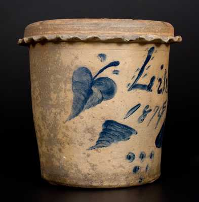 Very Rare Presentation Stoneware Flowerpot, Inscribed