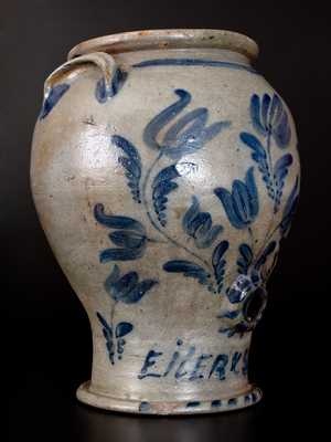 Outstanding and Important Eiler & Sunshine, East Birmingham, PA Stoneware Pedestal Water Cooler