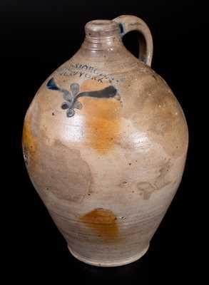 Extremely Rare and Important DAVID MORGAN / NEW YORK Stoneware Jug