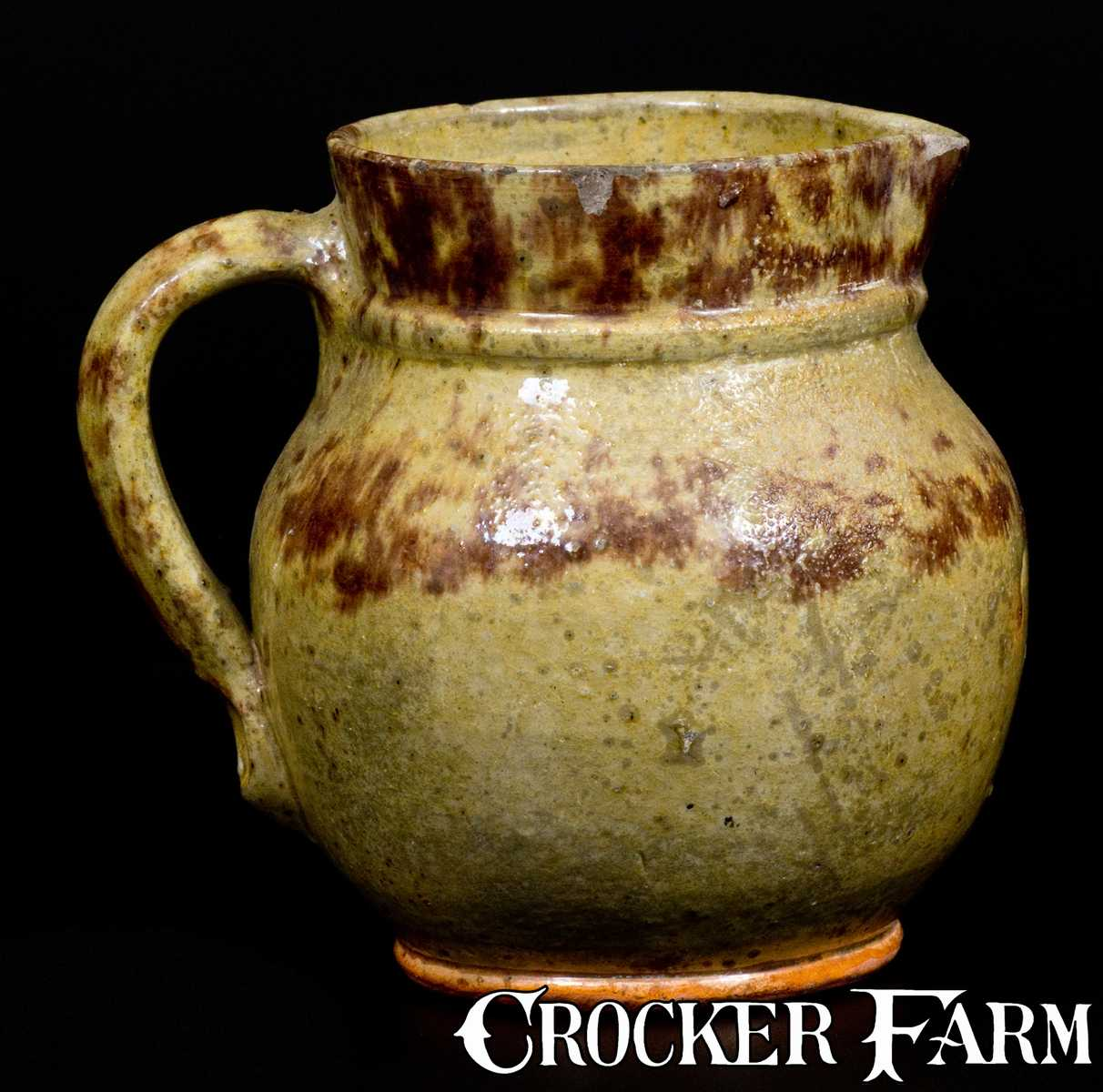 Glazed Redware Pitcher American Early To Mid 19th