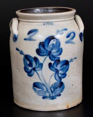 2 Gal. LYONS Stoneware Jar with Floral Decoration